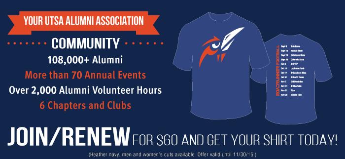 Join Football Shirt Joint Alumni Association Utsa