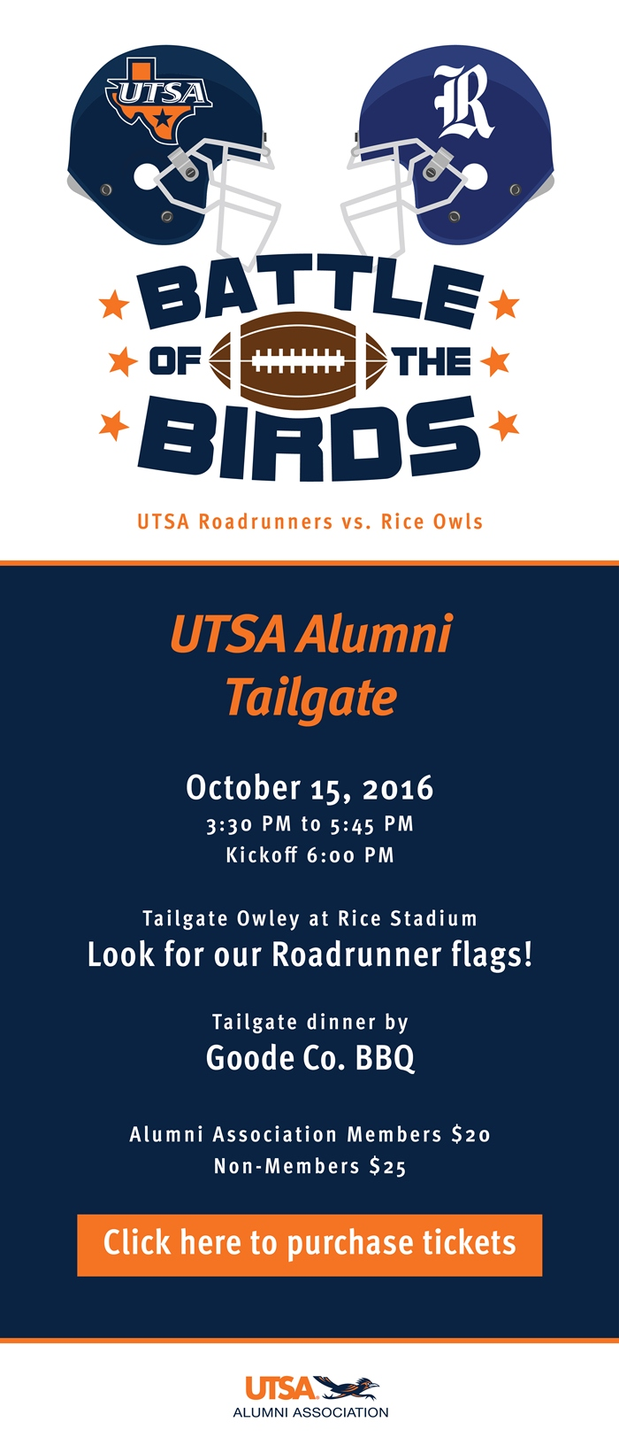 Tailgate with us before the Rice vs. UTSA game!
