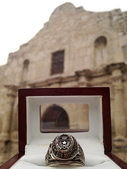 Your Ring Sleeps in the Alamo!