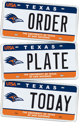 UTSA License Plate